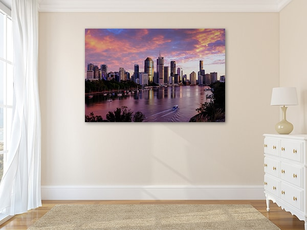 Brisbane City Canvas Artwork on the Wall