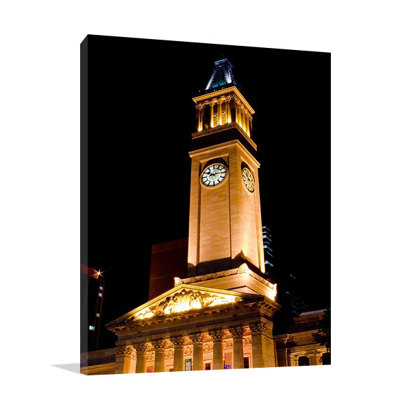 Canvas Print | Brisbane City Hall Tower