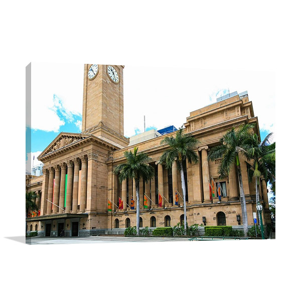 Brisbane City Hall Wall Canvas Print