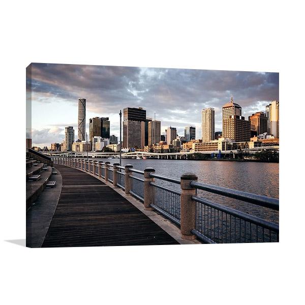 Australia Brisbane City Skyline Canvas Print