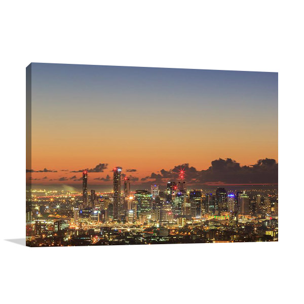 Brisbane City Sunrise Print on Canvas