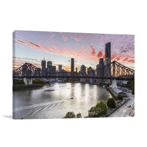 Brisbane Cityscape Print on Canvas
