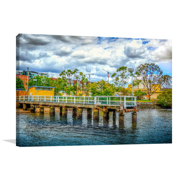 Brisbane River Art Print Jetty Teneriffe