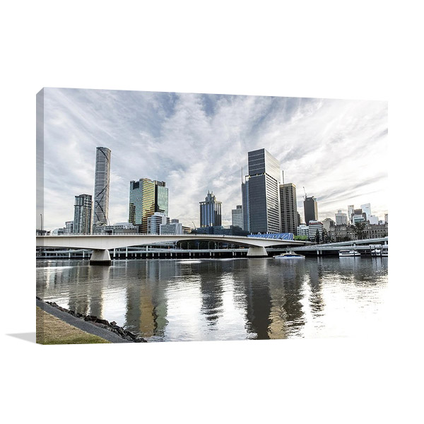 Brisbane River Australia Wall Canvas Print