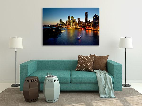 Brisbane Riverside Print Artwork