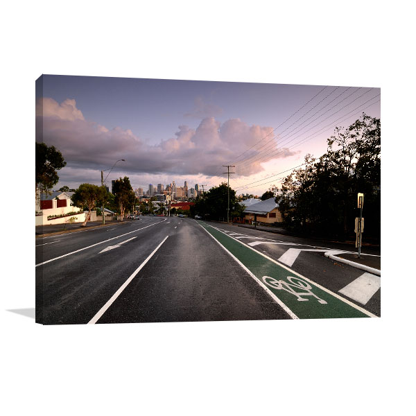 Brisbane Skyline Wall Art Print