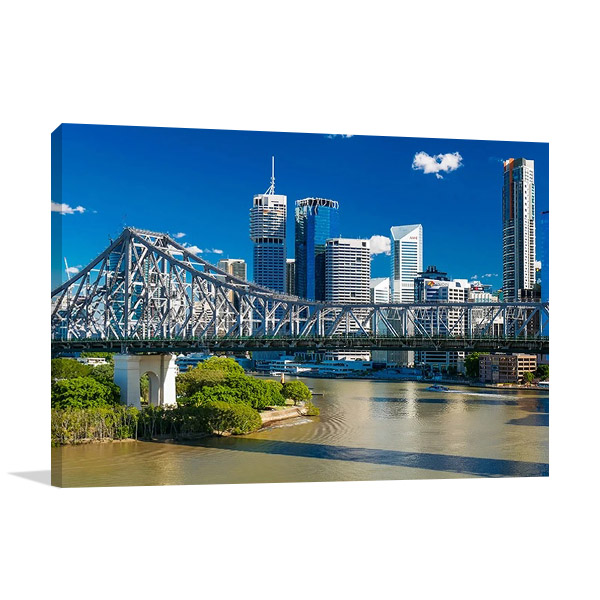 Brisbane Story Bridge Canvas Art Print