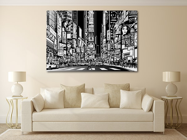 Broadway Street Vector Art Prints