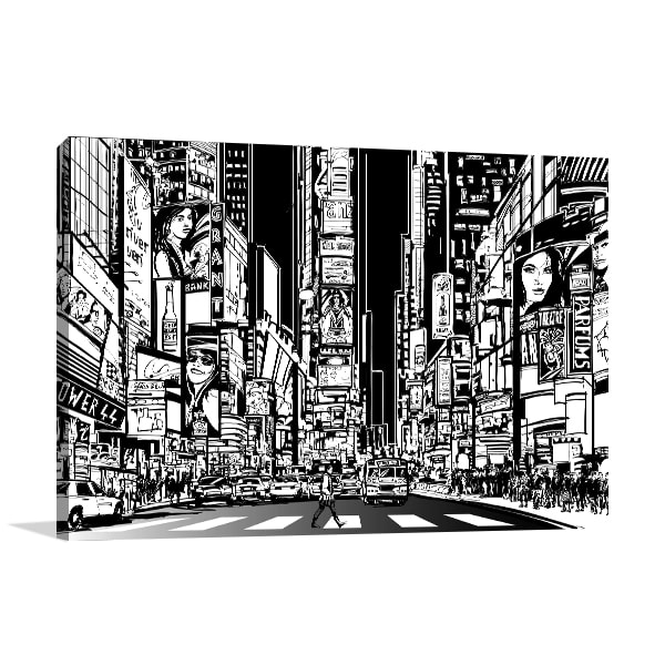 Broadway Street Vector Print Artwork