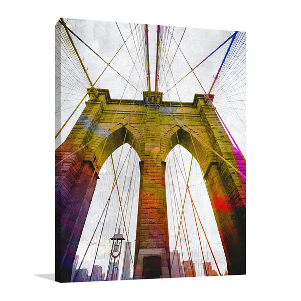 Brooklyn Bridge New York Print on Canvas