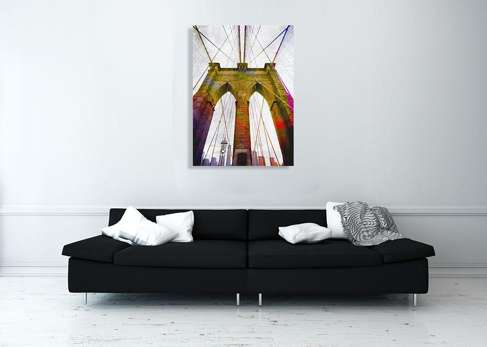 New York Contemporary Digital Art Canvas