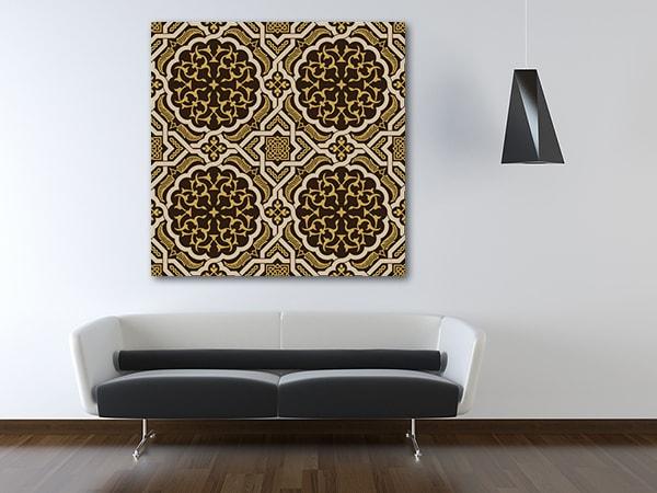 Brown Oriental Pattern Canvas Prints