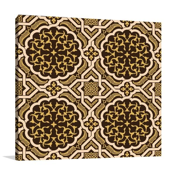 Brown Oriental Pattern Art Prints