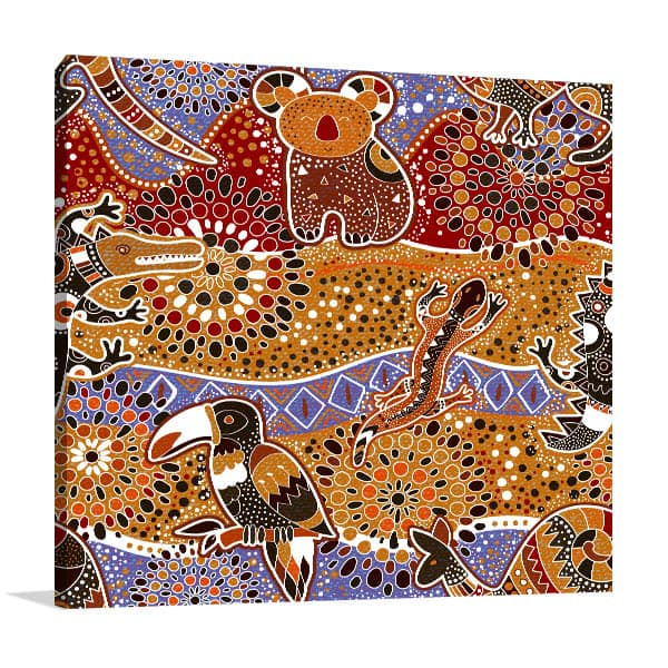 Brown Red Animals Canvas Art Prints