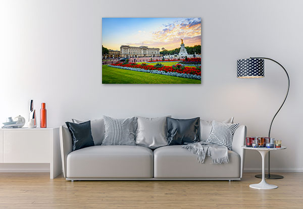 Buckingham Palace in London Canvas Prints