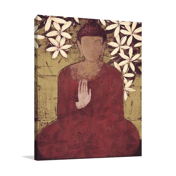 Buddha Enlightment Print on Canvas