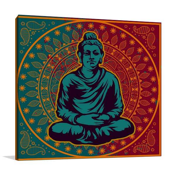 Buddha in Vector Canvas Art