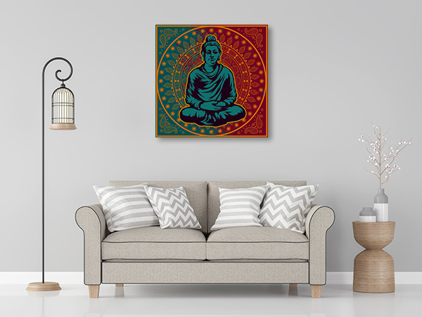 Buddha in Vector Canvas Prints