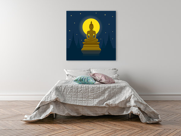 Buddhist Holy Day Canvas Art