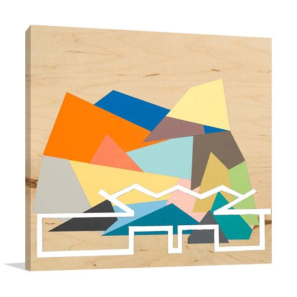 Building Silhouette Canvas Print