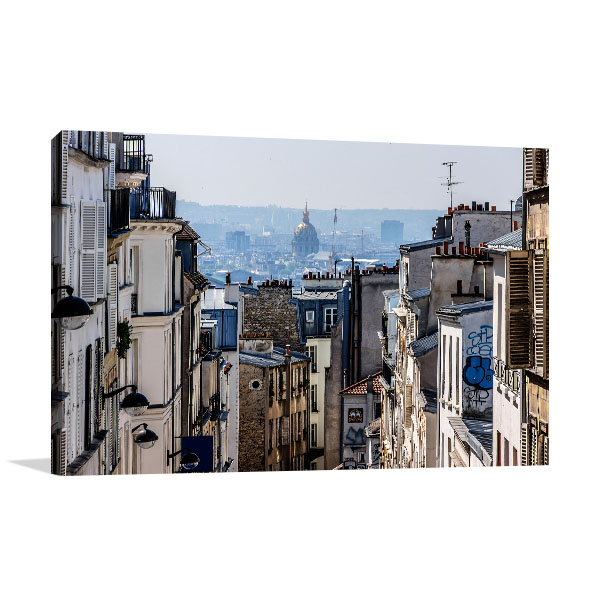 Buildings of Montmarte Prints Canvas