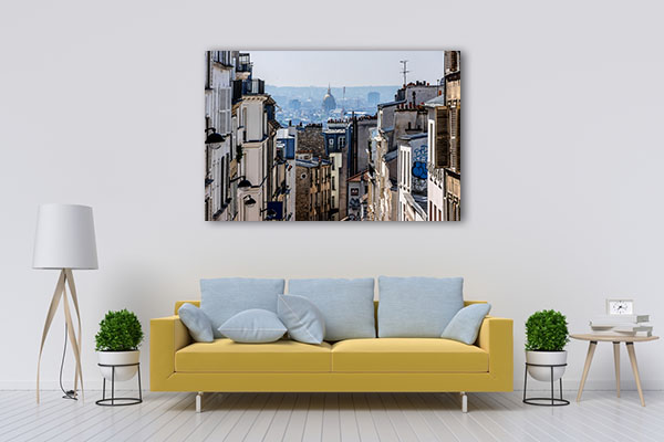 Buildings of Montmarte Canvas Prints