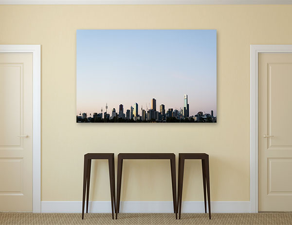 Buildings Skyline in Melbourne Wall Art