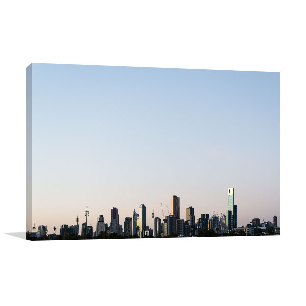 Buildings Skyline in Melbourne Canvas Art Prints