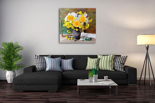 Bunch of Autumn Flower Canvas Prints