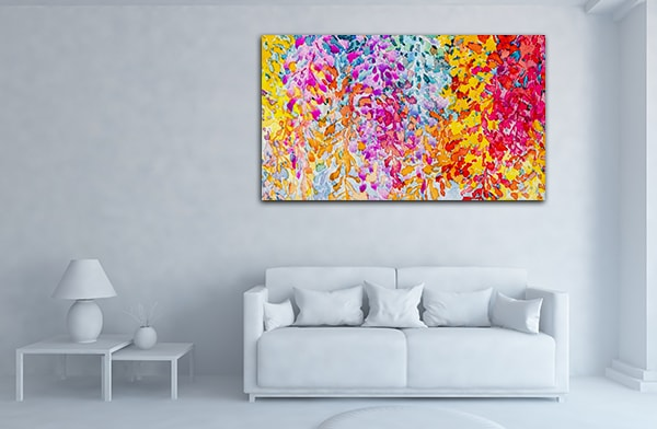 Bunch of Flowers Prints Canvas