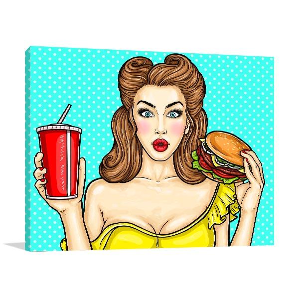 Burger and Drink Artwork