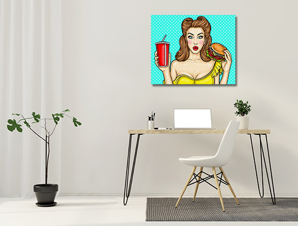 Burger and Drink Canvas Prints