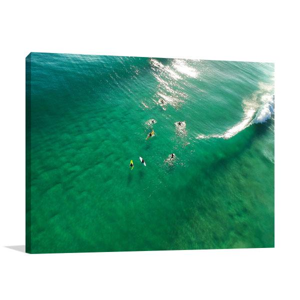 Burleigh Heads Wall Art Print Surfers