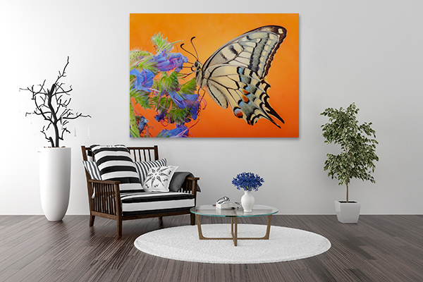 Butterfly Art Print on the wall