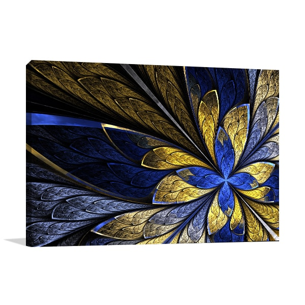 Butterfly Fractal Canvas Art