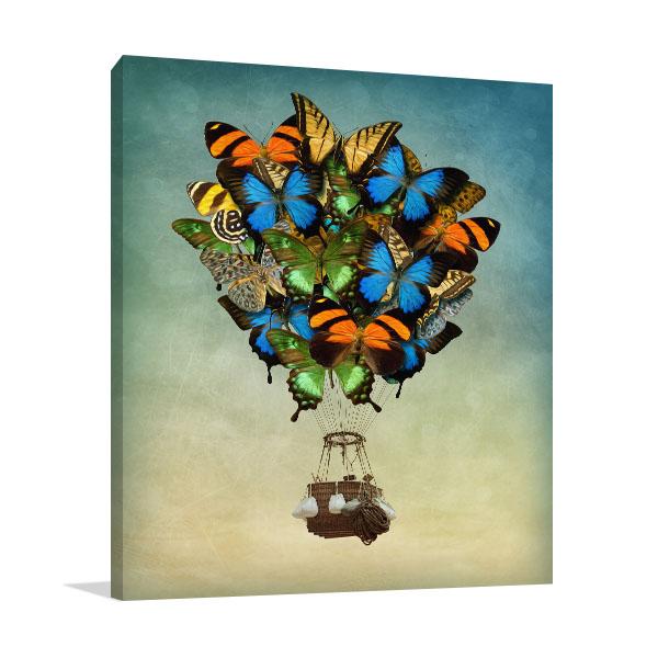 Butterfly Hot Air Balloon Wall Art