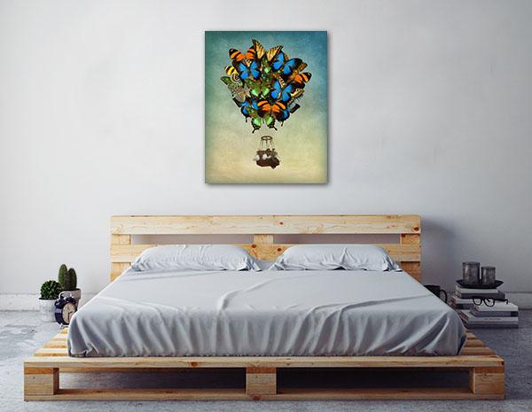 Butterfly Hot Air Balloon Canvas Art