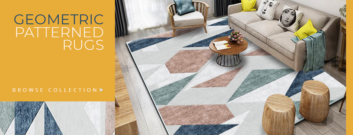 Buy Geometric Patterned Rugs Carpets Online