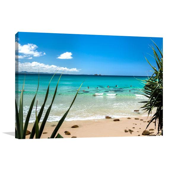 Byon Bay Canvas Print Tropical Beach