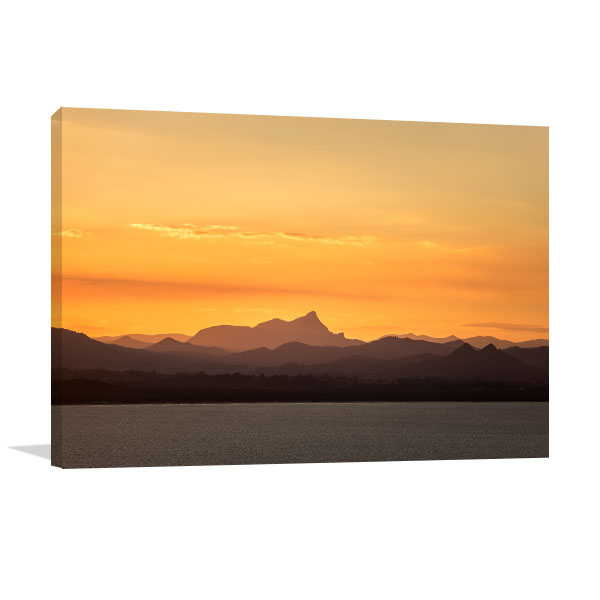 Byron Bay Art Print Sunset Over Mountain