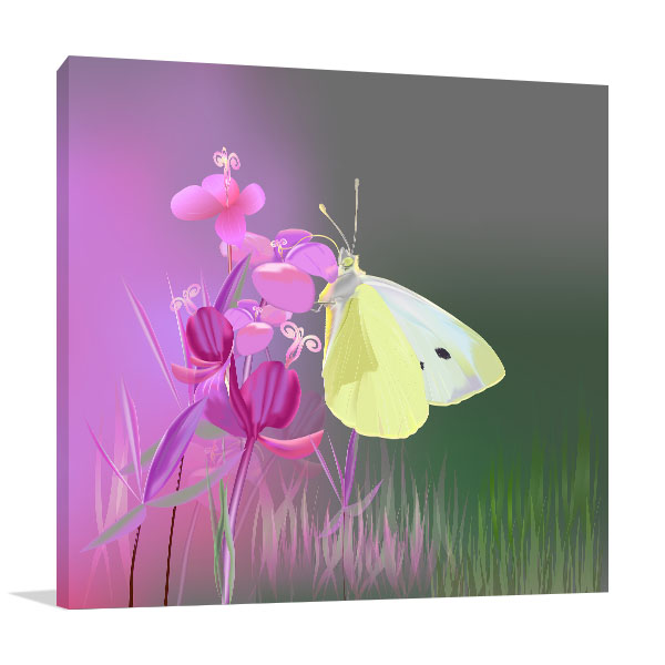 Cabbage Butterfly Canvas Art Prints