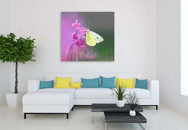 Cabbage Butterfly Canvas Prints