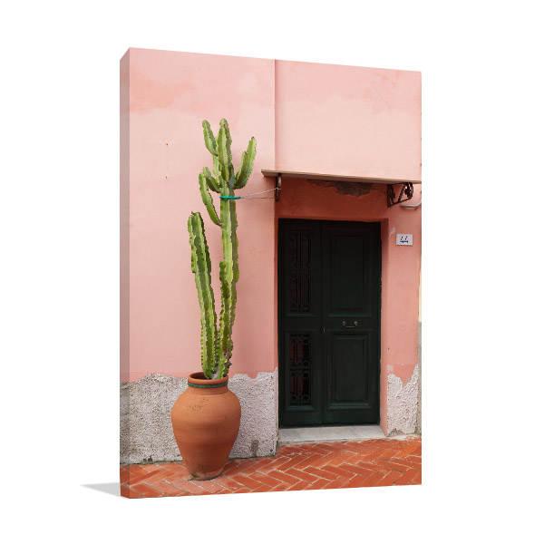 Cactus & Door Wall Art