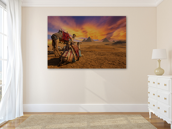 Cairo Pyramid Canvas Art Print on the wall