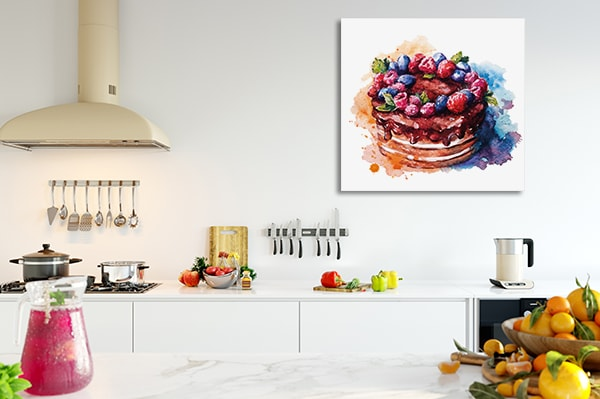 Cake Watercolour Artwork