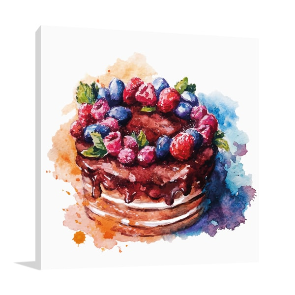 Cake Watercolour Art Prints