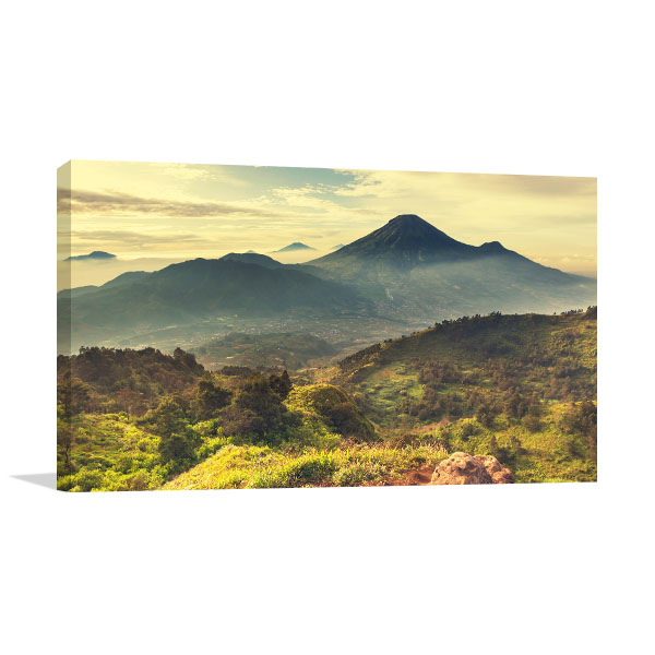 Caldera Mountains Canvas Art