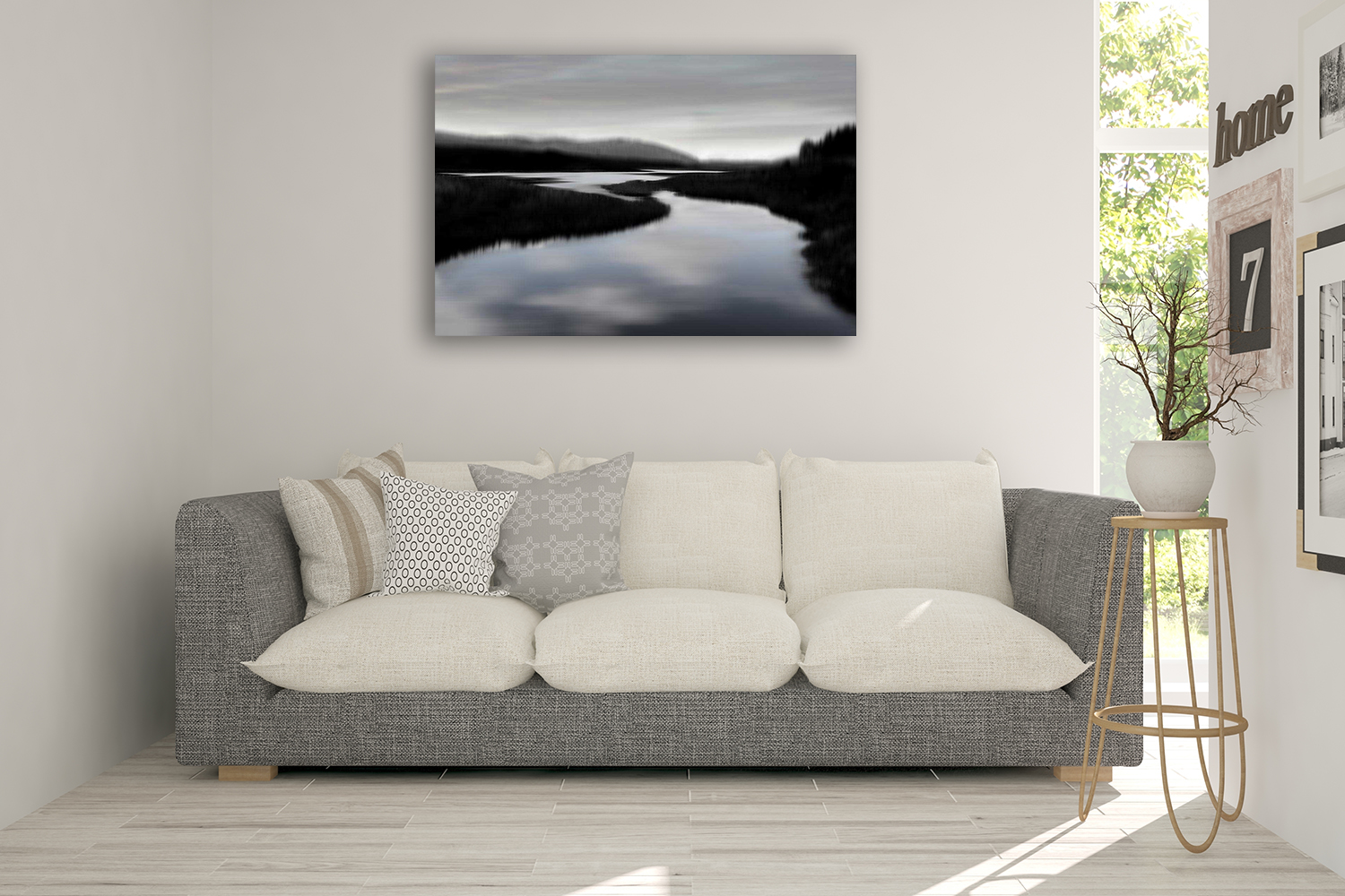 Black and White Art Print Canvas