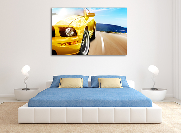 Camaro Canvas Art Print on the wall