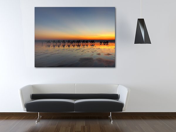 Camels Canvas Art Print on the wall